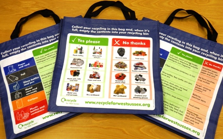Recycling - bags for communal areas