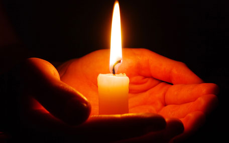 Holocaust Memorial Day - candle
