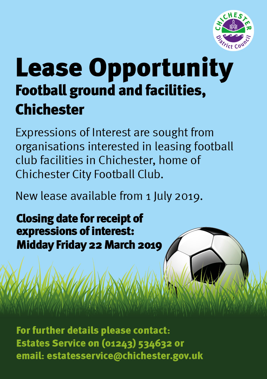 2019 Lease Opportunity - football ground and facilities