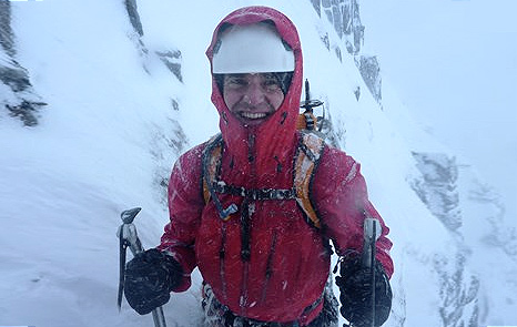 Harvey is climbing The Eiger