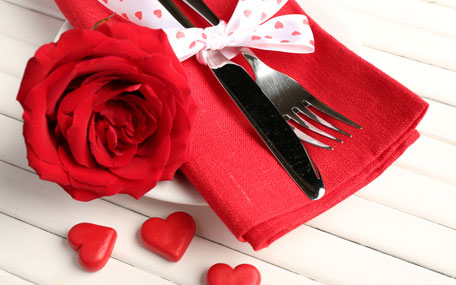 Food ratings for Valentine's Day