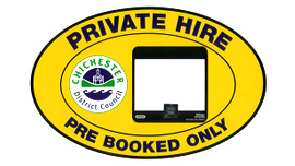 Private hire - pre book only badge