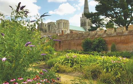 Chichester Cathedral and gardens