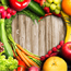 Wellbeing - heart and vegetables