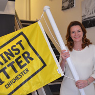 Thumbnail image of Gillian supporting Against Litter Campaign