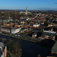 Thumbnail image of Aerial view to Chichester Cathedral