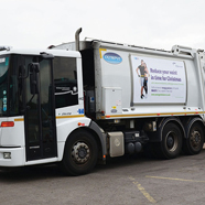 Thumbnail image of Recycling truck poster advertising