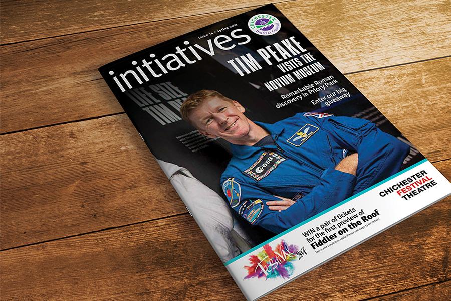 Initiatives magazine advertising