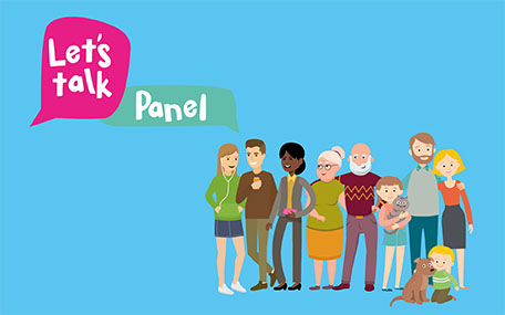 Let's Talk Panel graphic