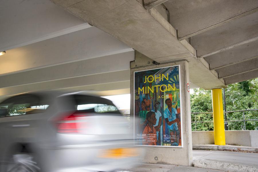 Car park large format poster advertising