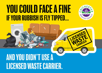 Against fly tipping campaign