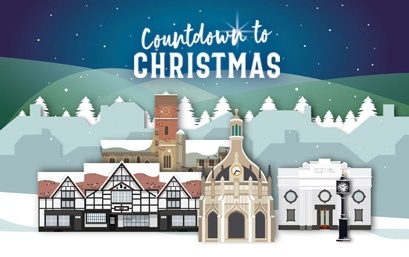 Countdown to Christmas campaign banner for Chichester District Council