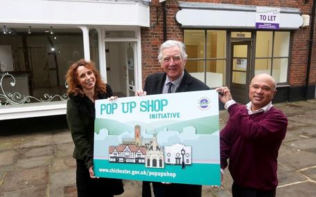 Pop up shop initiative