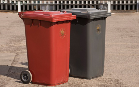 Waste and recycling bins