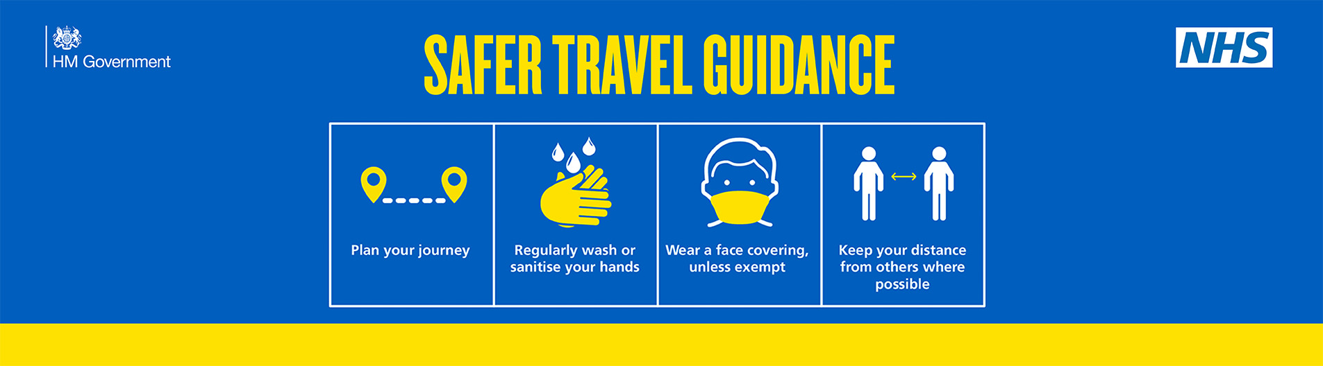 Travel guidance: Keeping safe when out and about