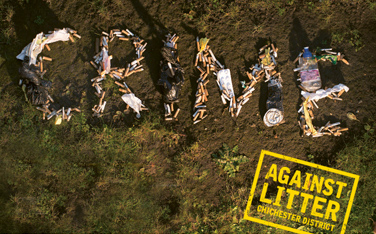 Against Litter campaign image